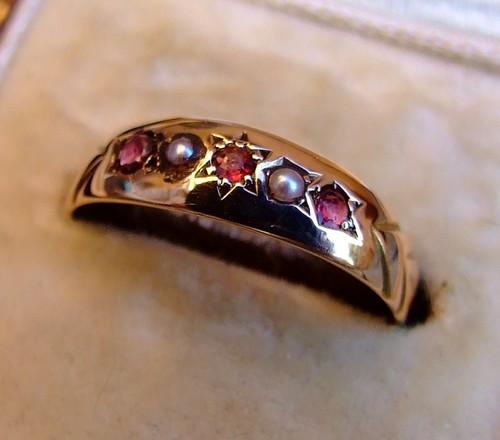 Victorian Rose Birthstone Ring