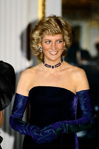 Diana S Blue Stone Earrings